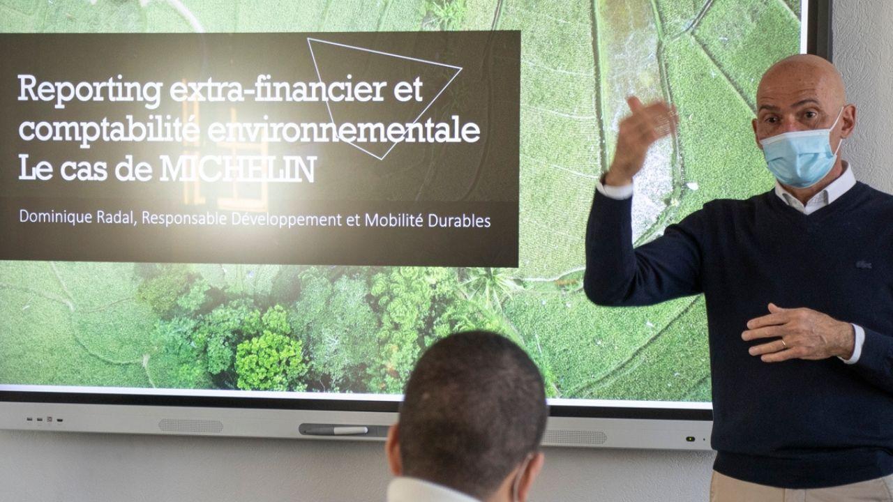 Dominique Radal, responsable de la Transformation et de la Performance Durables chez Michelin